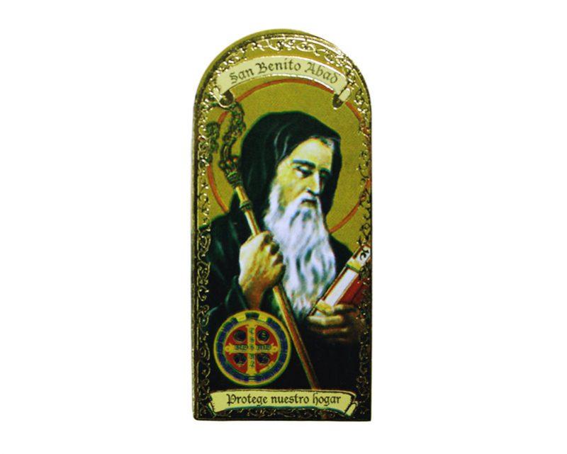 San Benito Abad 3x7cm Imán Capilla de cartón