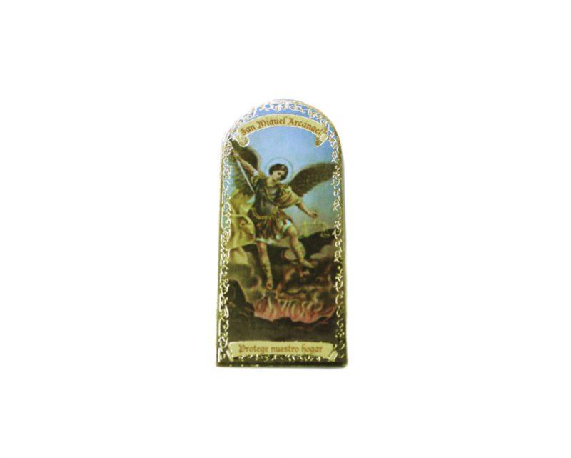 San Miguel Arcángel 3x7cm Imán Capilla de cartón