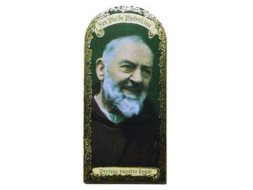 Pio de Pietrelcina 3x7cm Imán Capilla de cartón