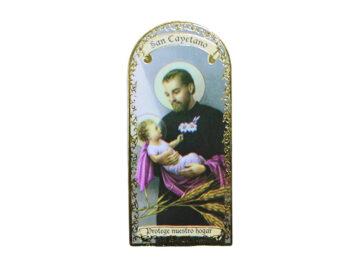 San Cayetano 3x7cm Imán Capilla de cartón