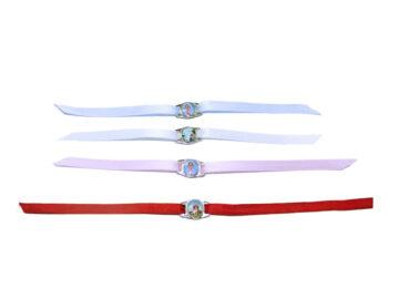 Pulsera c/medalla color c/cinta. Imágenes varias