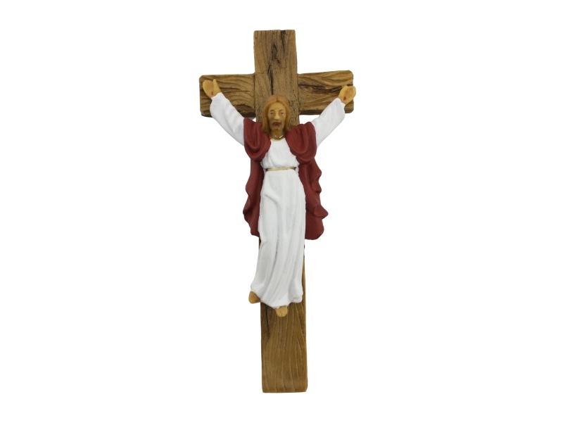 Estatua PVC Cristo Redentor con cruz 15cm - frente
