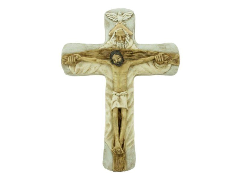 Crucifijo de ceramica Santisima Trinidad