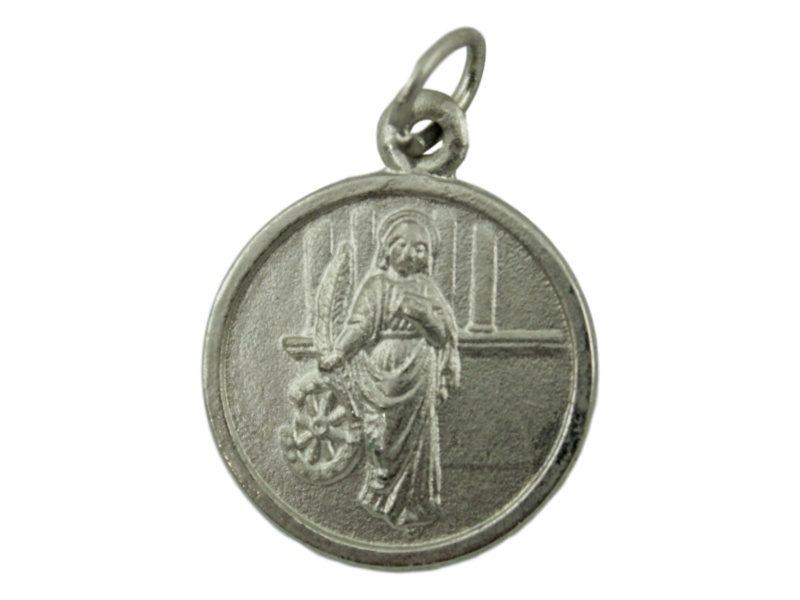 Medalla Alpaca Santa Catalina de Alejandria