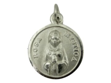 Medalla Alpaca Rosa Mistica frente