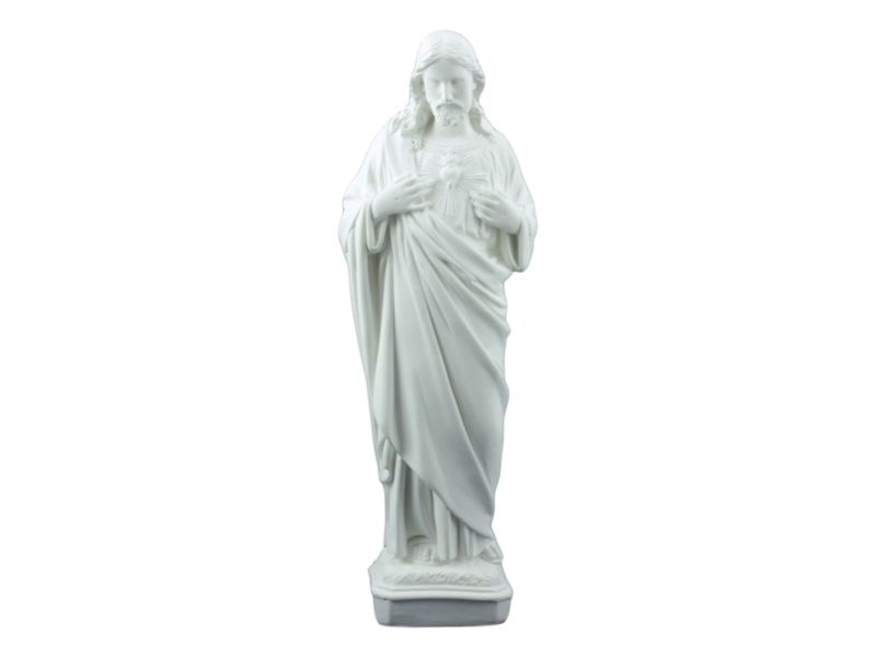 Estatua Cemento Sagrado Corazon de frente