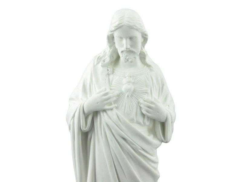 Estatua Cemento Sagrado Corazon zoom