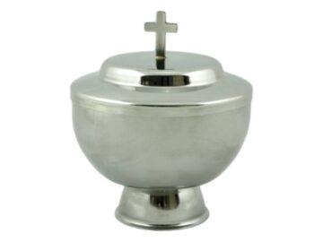 Copon de liturgia de acero inoxidable con base baja