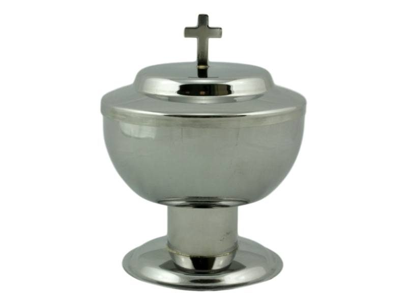 Copon liturgico de acero inoxidable de base alta