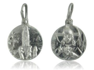 Medalla aluminio Virgen de Fatima