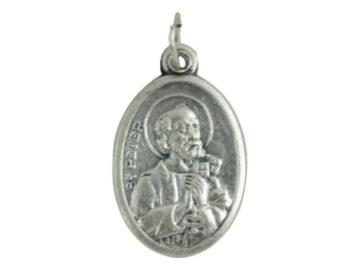 Medalla peltre ovalada San Pedro