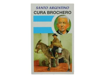 Estampita Cura Brochero Santo Argentino