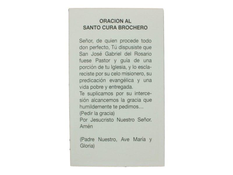 Oracion Cura Brochero Santo Argentino