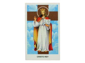 Estampita Cristo Rey