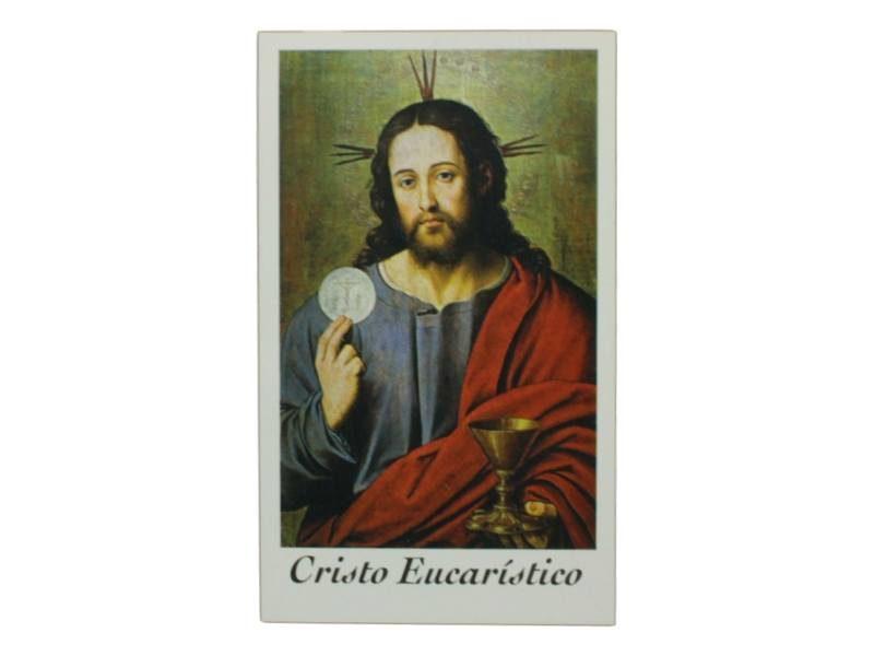 Estampita Cristo Eucaristico