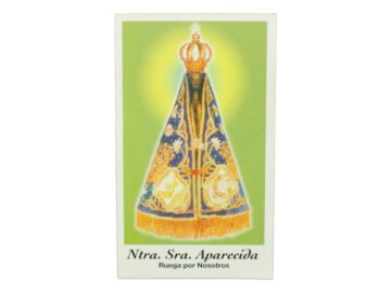 Estampita Nuestra Señora Aparecida