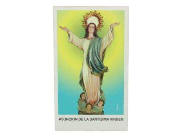 Estampita Asuncion de la Santisima Virgen