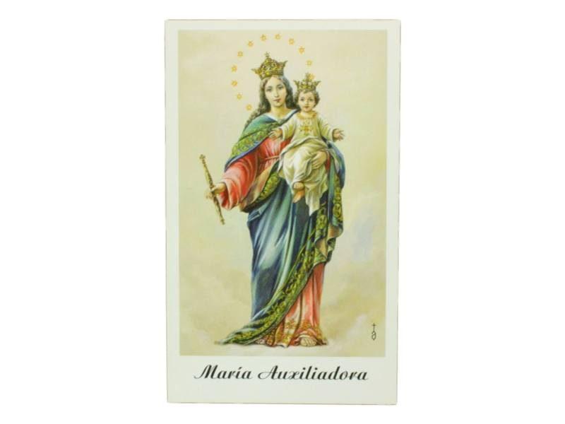 Estampita Virgen Maria Auxiliadora