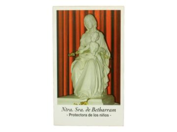 Estampita Virgen de Betharram