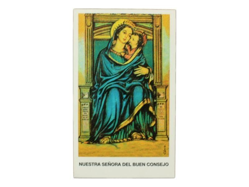 Estampita Nuestra Señora del Buen Consejo