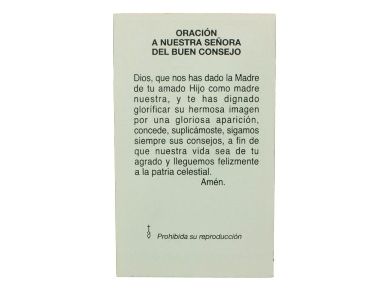 Oracion de Nuestra Señora del Buen Consejo