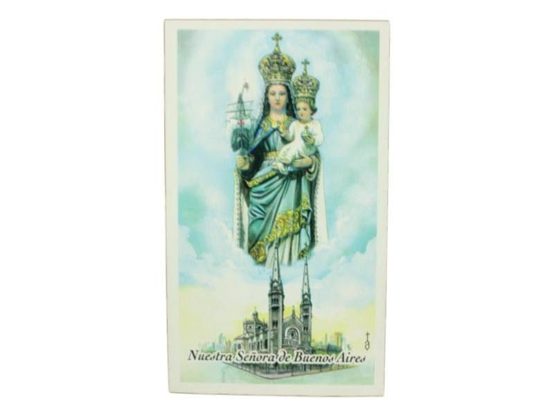 Estampita Virgen de Buenos Aires