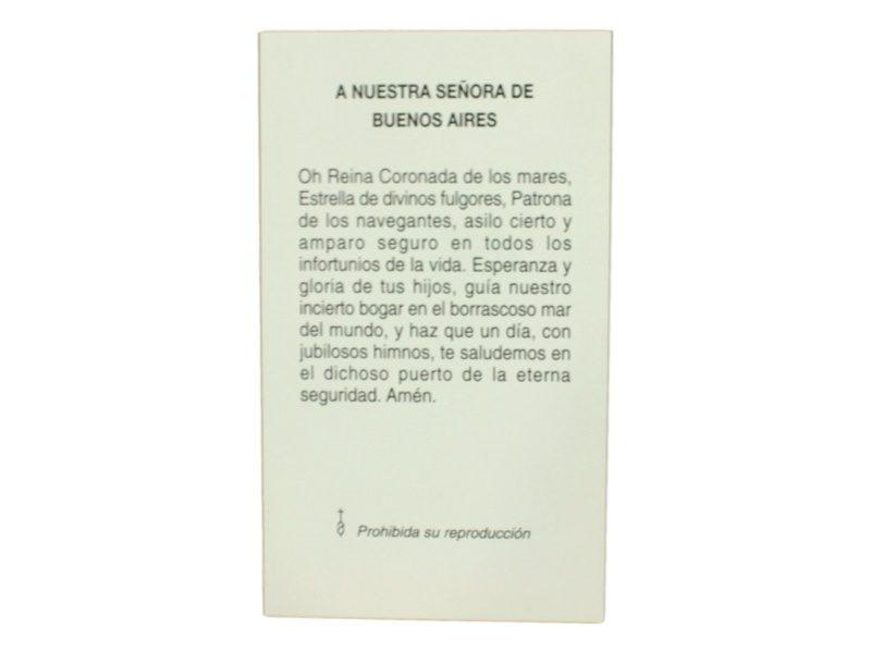 Oracion Virgen de Buenos Aires
