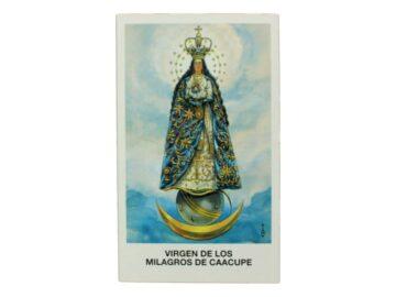 Estampita de la Virgen de Caacupe