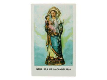 Estampita de Nuestra Señora de la Candelaria