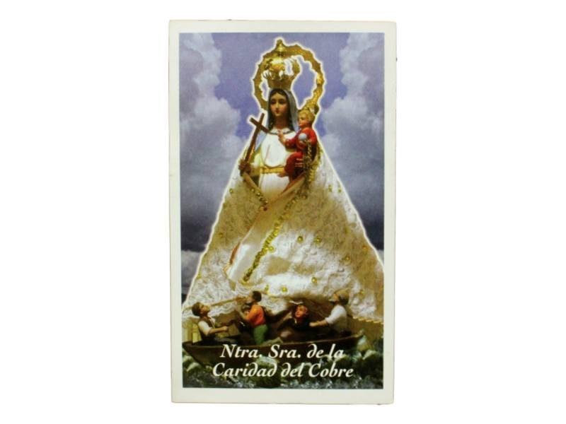 Estampita Nuestra Señora de la Caridad del Cobre
