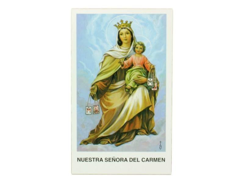 Estampita Virgen del Carmen