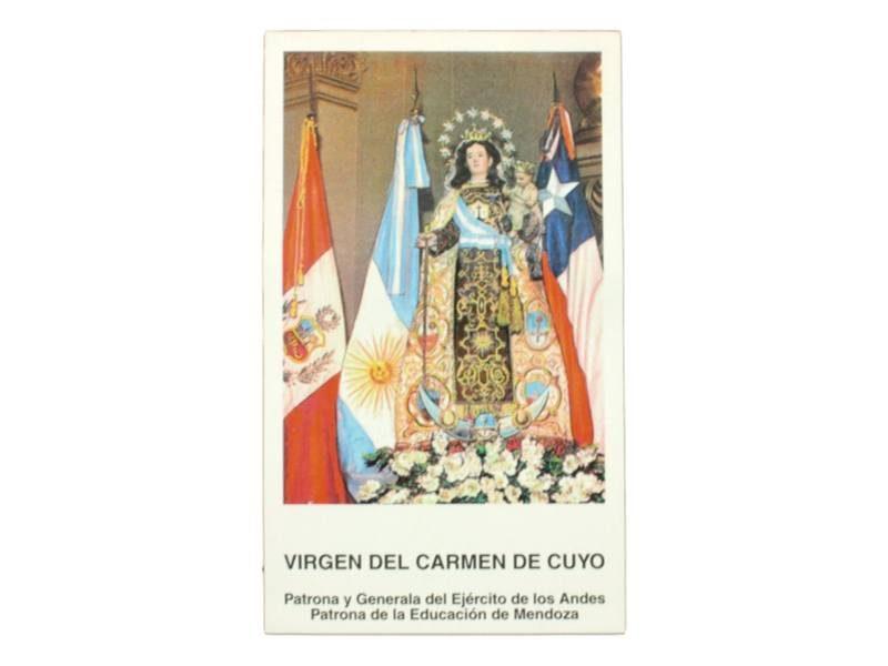 Estampita Virgen del Carmen de Cuyo