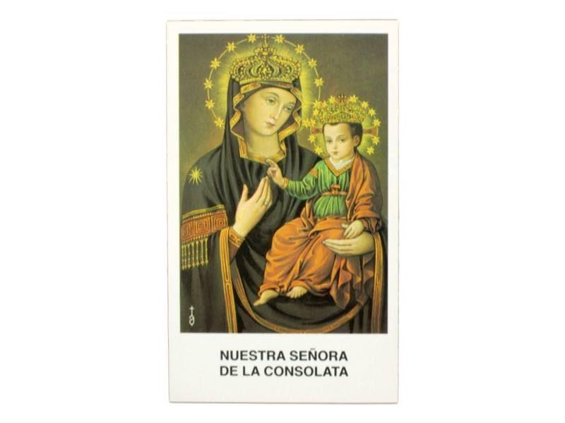 Estampita Nuestra Señora de la Consolata