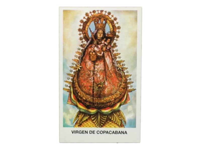 Estampita Virgen de Copacabana