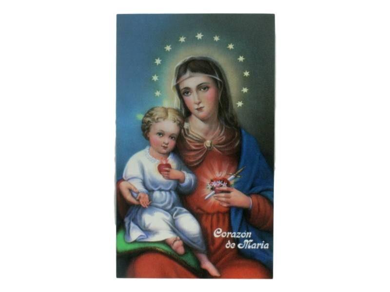 Estampita Sagrado Corazon de Maria