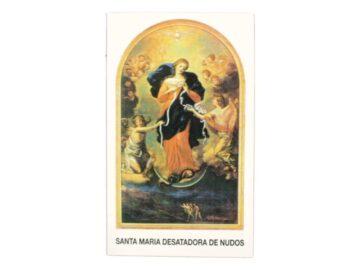 Estampita Virgen Desatanudos