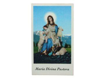 Estampita Virgen Maria Divina Pastora