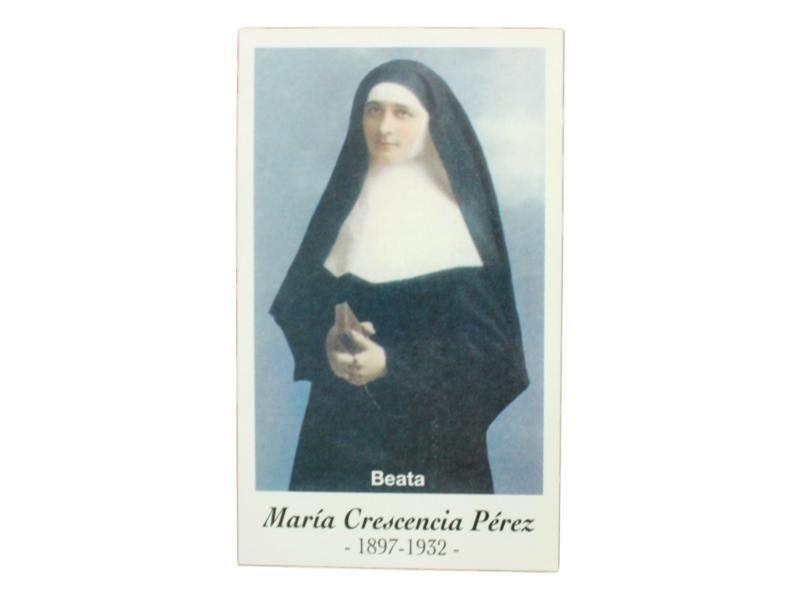 Estampita Beata Maria Crescencia Perez