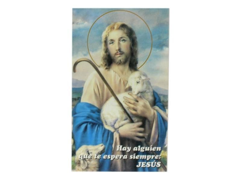 Estampita Mi Señor El Buen Pastor