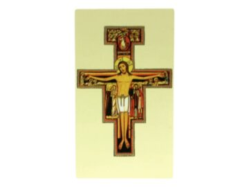 Estampita Cristo de San Damian