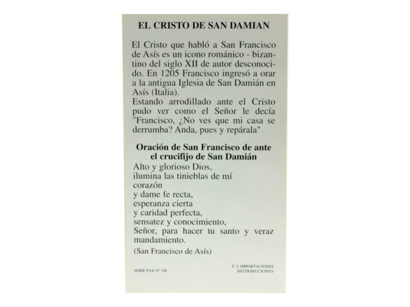Oracion al Cristo de San Damian