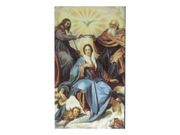 Estampita Coronacion de la Virgen