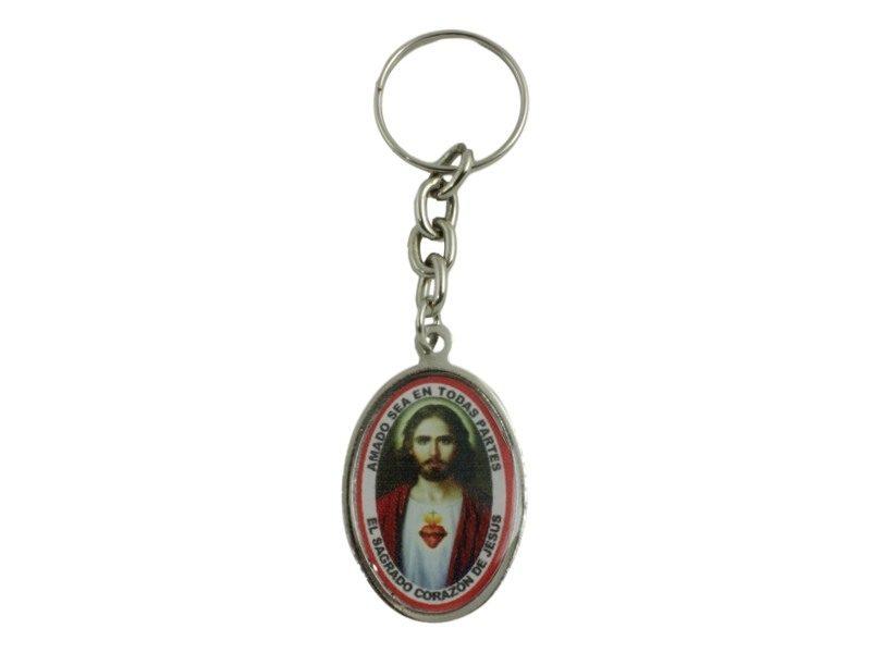 Llavero Detente Sagrado Corazon de Jesus dorso