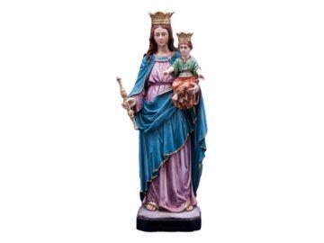 Estatua resina italiana de la Virgen Maria Auxiliadora de 60cm de alto