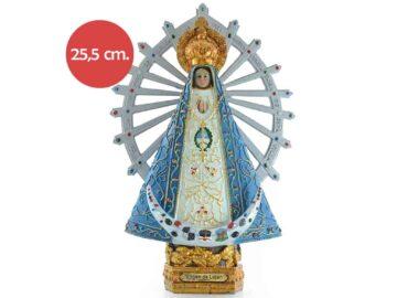 Estatua resina Virgen de Lujan 25.5cm