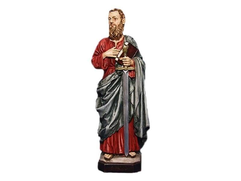 Estatua resina italiana de San Pablo de 30 cm de alto