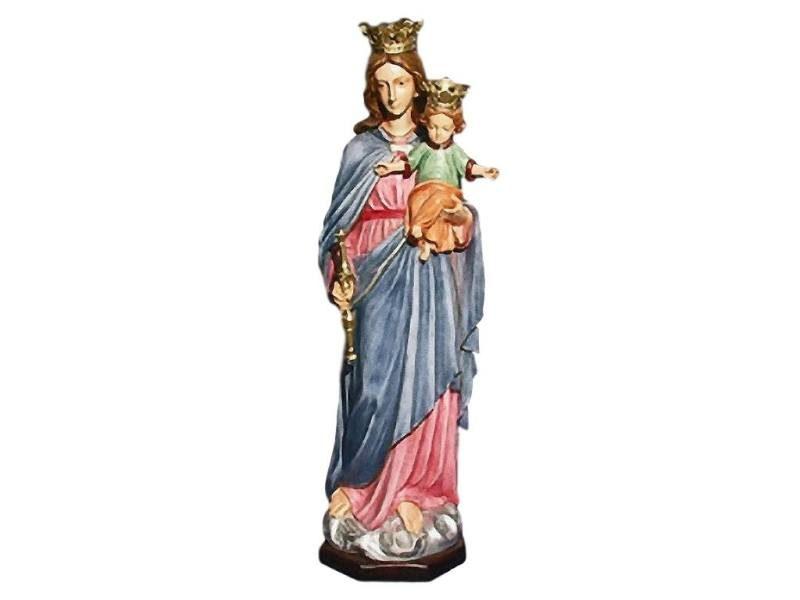 Estatua resina italiana de Virgen Maria Auxiliadora de 110cm de alto