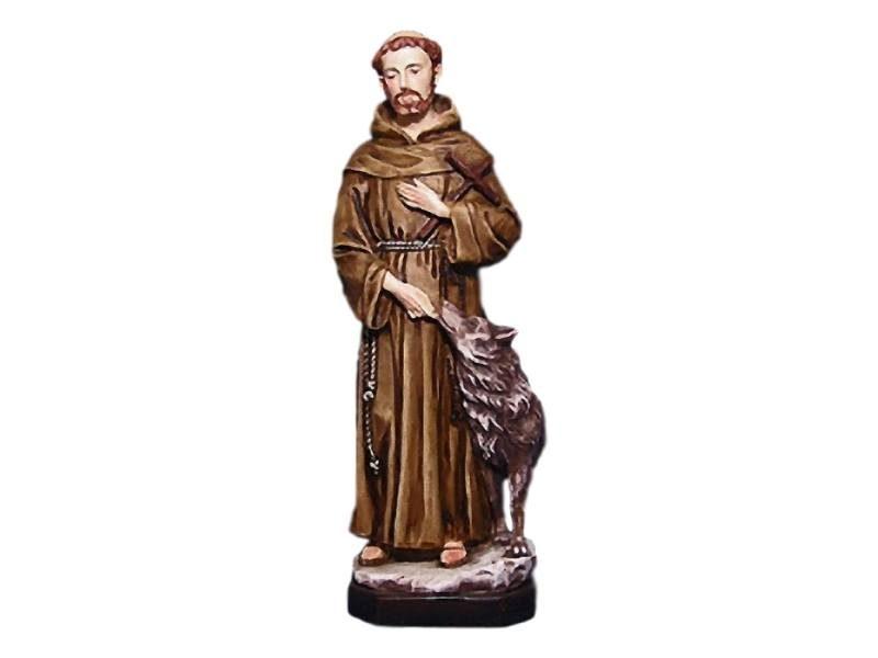 Estatua resina italiana de San Francisco de Asis de 30cm de alto