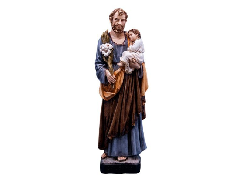 Estatua resina italiana de San Jose de 60cm de alto