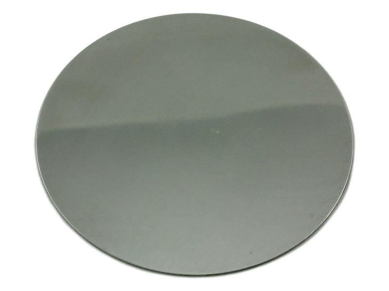 Patena de acero inoxidable lisa 10cm - costado